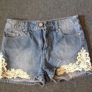 Urban Outfitters BDG Lace Shorts High Rise Erin 27